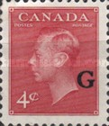"""[King George VI - Stamps of 1949 Overprinted """"G"""", type E4]"""