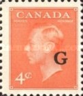 """[King George VI - Stamps of 1949 Overprinted """"G"""", type E5]"""