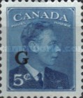 """[King George VI - Stamps of 1949 Overprinted """"G"""", type E6]"""