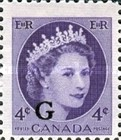 [Queen Elizabeth II - Postage Stamps of 1954 Overprinted