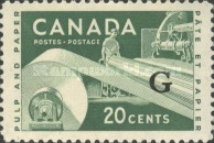 [Industry - Postage Stamp of 1956 Overprinted