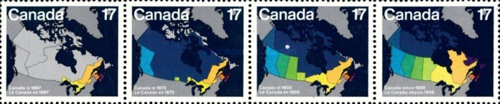 [Canada Day - Maps showing Evolution of Canada from Confederation to Present Day, Typ ]