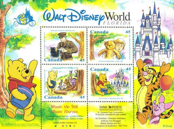 [Stamp Collecting Month - Winnie the Pooh, Typ ]