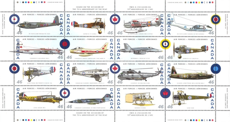[The 75th Anniversary of Canadian Air Force, Typ ]
