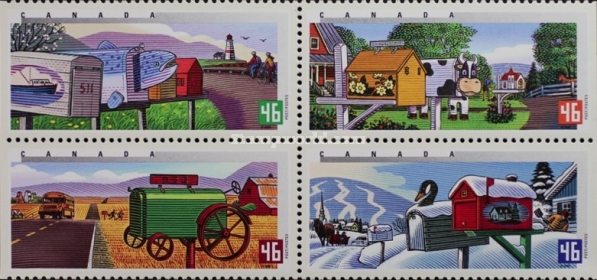 [Traditional Rural Mailboxes, Imperforated Left or Right, Typ ]