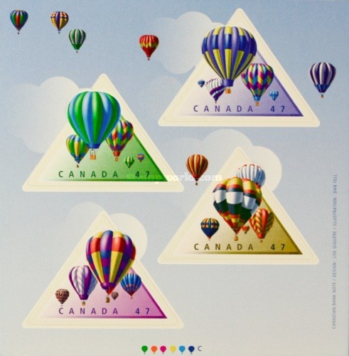 [Stamp Collecting Month - Hot Air Balloons, Self-Adhesive, Typ ]