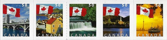 [Canadian Flag and Local Motifs - Self-Adhesive, Typ ]