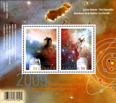 [International Year of Astronomy - With Overprint under Black light, Typ ]