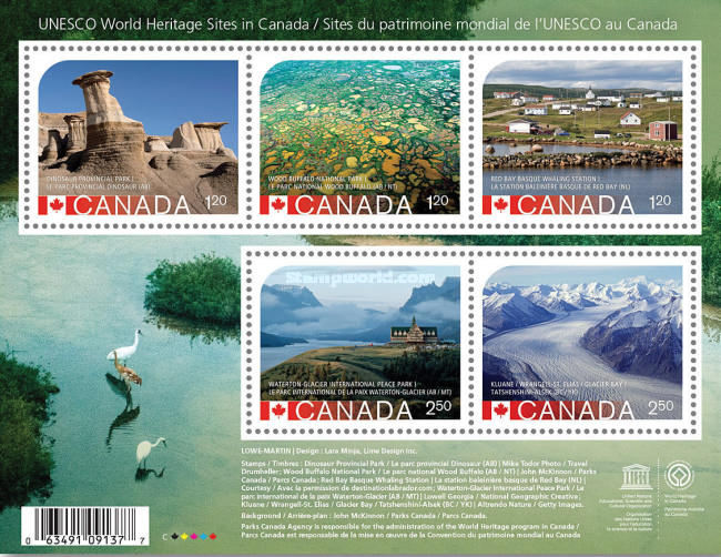 [UNESCO World Heritage Sites in Canada - Withdrawn, See August 21st Issue, Typ ]
