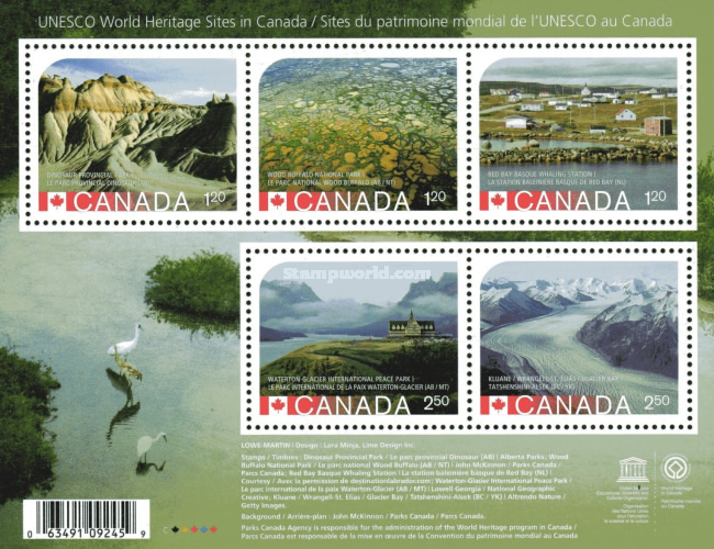 [UNESCO World Heritage Sites in Canada - Replacement Stamp of Dinosaur Provincial Park, Typ ]