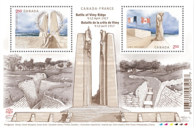 [World War I - The 100th Anniversary of the Battle of Vimy Ridge - Joint Issue with France, Typ ]