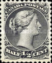 [Queen Victoria - Size: No. 1-1C 17 x 21 mm, No. 2-3a: 20 x 24mm. For Earlier Issues, see British Canada, Typ A]