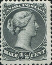 [Queen Victoria - Size: No. 1-1C 17 x 21 mm, No. 2-3a: 20 x 24mm. For Earlier Issues, see British Canada, Typ A3]