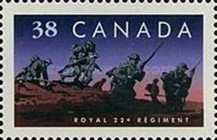 [The 75th Anniversary of Canadian Regiments, Typ ANS]