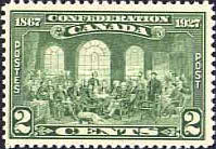 [The 60th Anniversary of the Founding of the Dominion of Canada, Inscription: