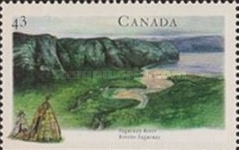 [Canadian Rivers - Imperforated Top or Bottom, Typ AXV]