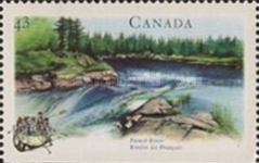 [Canadian Rivers - Imperforated Top or Bottom, Typ AXW]