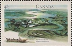[Canadian Rivers - Imperforated Top or Bottom, Typ AXX]