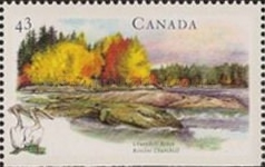 [Canadian Rivers - Imperforated Top or Bottom, Typ AXY]