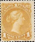 [Queen Victoria - Size: No. 1-1C 17 x 21 mm, No. 2-3a: 20 x 24mm. For Earlier Issues, see British Canada, Typ B3]