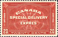 [Special Delivery Stamp, Inscription : TWENTY CENTS, Typ BO]