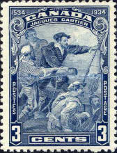 [The 400th Anniversary of Jacques Cartier's Landing in Canada, type CC]