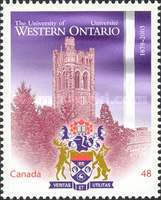 [The 125th Anniversary of the University of Western Ontario, Typ CDA]