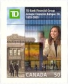 [The 150th Anniversary of TD Bank Financial Group - Self-Adhesive, Typ CHX]