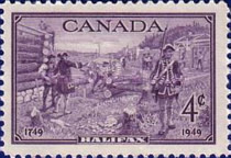 [The 200th Anniversary of the Founding of Halifax, Typ EI]