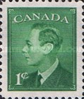"""[King George VI As Previous Without Inscription """"POSTES POSTAGE"""", type EO]"""