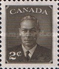 """[King George VI As Previous Without Inscription """"POSTES POSTAGE"""", type EP]"""
