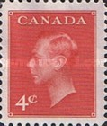 """[King George VI As Previous Without Inscription """"POSTES POSTAGE"""", type ER]"""