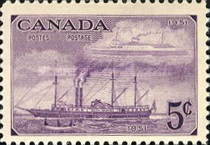 [The 100th Anniversary of Canadian Stamps, type EZ]
