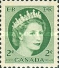 [Queen Elizabeth II - Normal Paper, See 1962 for Fluorescent Stripes, Typ GT1]