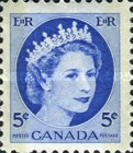 [Queen Elizabeth II - Stamps of 1954 with 2 Flourescent Stripes, Typ GT10]