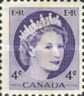 [Queen Elizabeth II - Normal Paper, See 1962 for Fluorescent Stripes, Typ GT3]