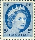 [Queen Elizabeth II - Normal Paper, See 1962 for Fluorescent Stripes, Typ GT4]
