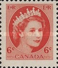 [Queen Elizabeth II - Normal Paper, See 1962 for Fluorescent Stripes, Typ GT5]