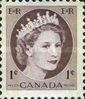[Queen Elizabeth II - Stamps of 1954 with 2 Flourescent Stripes, Typ GT6]
