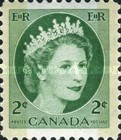 [Queen Elizabeth II - Stamps of 1954 with 2 Flourescent Stripes, Typ GT7]