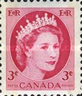 [Queen Elizabeth II - Stamps of 1954 with 2 Flourescent Stripes, Typ GT8]