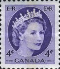 [Queen Elizabeth II - Stamps of 1954 with 2 Flourescent Stripes, Typ GT9]