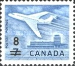 [Airliner & Ottawa Airport - Stamp of 1964 Surcharged, Typ JJ2]