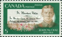 [The 50th Anniversary of the Death of John McCrae - Soldier and Poet, Typ MB]