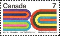 [The 100th Anniversary of the British Columbia's Entry into the Confederation, Typ OG]