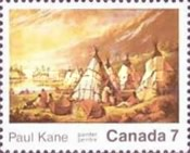 [The 100th Anniversary of the Death of Paul Kane, Painter, Typ OH]