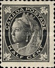 [Queen Victoria - Maple Leaf in Corners, Typ P]