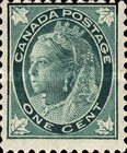 [Queen Victoria - Maple Leaf in Corners, Typ P1]
