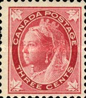 [Queen Victoria - Maple Leaf in Corners, Typ P3]