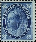 [Queen Victoria - Maple Leaf in Corners, Typ P4]